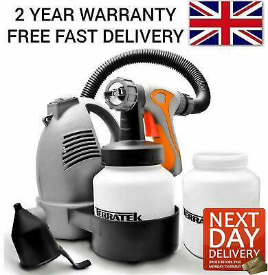 Paint Sprayer Spray Gun Airless Hvlp Electric 650w Hand Held Fence Tan System  • 33.95£