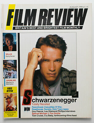 Film Review Magazine August 1990 Arnold Schwarzenegger In Total Recall Cover • 4£