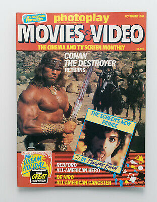 Photoplay Movies & Video Magazine Nov 1984 Conan Arnold Schwarzenegger Cover • 5£