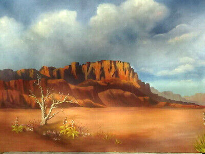 $ CDN452.61 • Buy Fantastic Desert Painting By ESTHER KILLIAN With Very Faded Signature