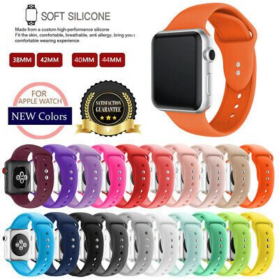 $ CDN6.28 • Buy For Apple Watch Replacement Silicone Wrist Sport Band Strap Series 6/5/4/3