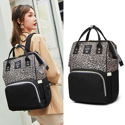 AU35.99 • Buy Diaper Bag Backpack Leopard Maternity Nappy Baby Bag Organizer Large Waterproof