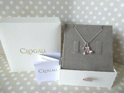Clogau Gold, Silver & Rose Gold Honey Bee Orchid Pendant & 22  Chain RRP £159 • 128£