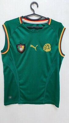 £64.99 • Buy Cameroon National Team 2002 Home Football Shirt Jersey Puma Size S Adult