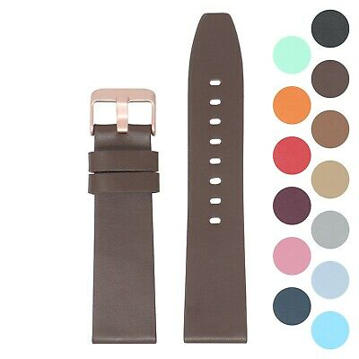 StrapsCo Smooth Leather Watch Band Strap For Rose Fitbit Versa / Versa 2 / Lite • 15.21£