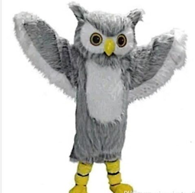 Adults Deluxe Grey Bird Eagle Party Mascot Costume Christmas Fancy Dress Parade • 208.30£