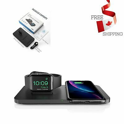 $ CDN34.92 • Buy Apple IPhone & IWatch Charger With Watch Charging Stand Anti Slip Silicone