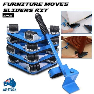 AU30.99 • Buy 5pcs Furniture Slider Lifter Moves Wheels Mover Kit Home Moving Lifting System