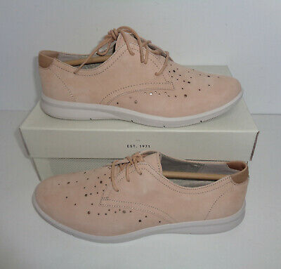 Rockport Ladies Nude Lace Up Leather Trainers Derby Shoes Womens New UK Size 4.5 • 32.98£