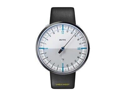 Botta Uno 24 Plus White Blue 24 Hours Designer Watch With A Hand And Date • 398.23£