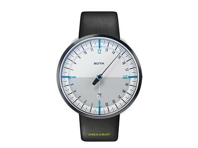 Botta Uno 24 Plus White Blue 24 Hours Designer Watch With A Hand And Date • 404.19£