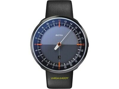 24 Hours Hand Watch Botta Uno 24+ Black Edition 45mm Large • 449.30£