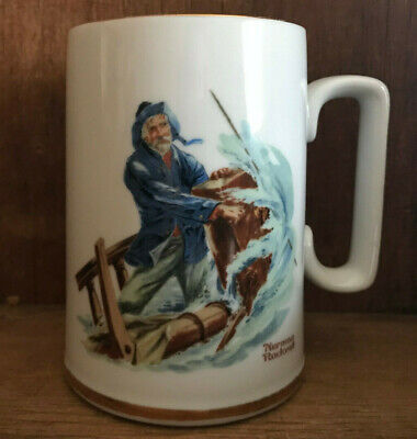 $ CDN24.18 • Buy Norman Rockwell Museum Collection Mug Braving The Storm 1985 Vintage Coffee Cup