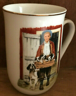 $ CDN26.73 • Buy Norman Rockwell Museum Collection Mug  Puppy Love  1986 Vintage Coffee Cup Dog
