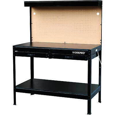 $136.50 • Buy Work Bench With Light PowerStrip Table Reloading Machine Shop Garage Hobby Steel