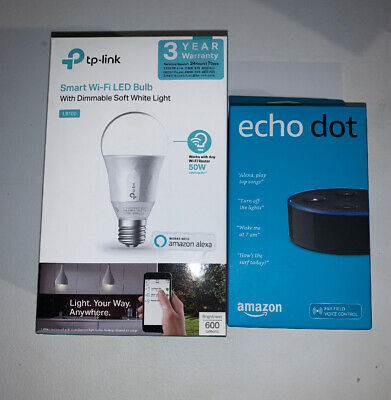 AU49.95 • Buy Black Amazon Echo Dot (2nd Generation) + TP-Link Smart Wifi Led Bulb ***AUS***