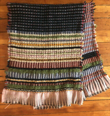 $69.99 • Buy Wallace # Sewell Honeycomb Scarf Multi Colored Wool Textured Made In England
