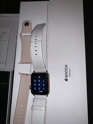 $ CDN316.72 • Buy Apple Watch Series 3 43mm Rose Gold Case Soft Pink Sport Band Extra Band