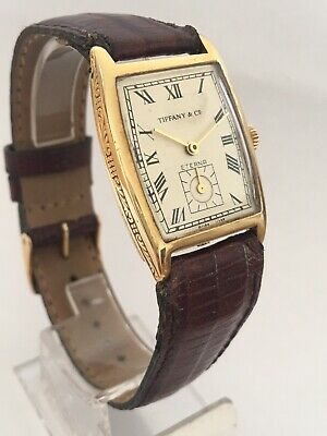 1920's Vintage 18K GOLD Eterna Tiffany & Co Hand-winding Wristwatch • 1,450£