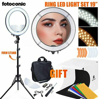 AU99.99 • Buy 19  55W Dimmable LED Ring Light W/ 185cm Stand And Led Light Tent Makeup Studio