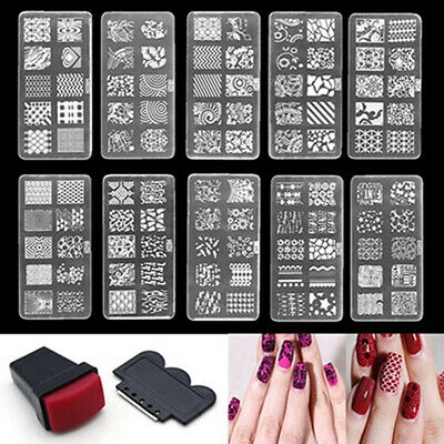 $5.60 • Buy USA Nail Art Stamp Stencil Stamping Template Plate Set Tool Stamper Design Kit