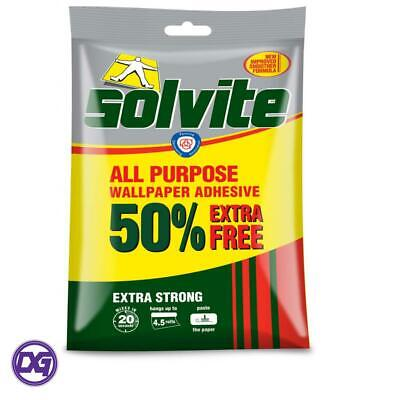 Solvite All-Purpose Extra Strong Wallpaper Paste Adhesive -Hangs Up To 4.5 Rolls • 2.25£