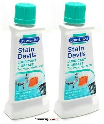 £5 • Buy 2 X Dr Beckmann Stain Devils Grease Lubricant & Paint Stain Remover 50ml - 6564