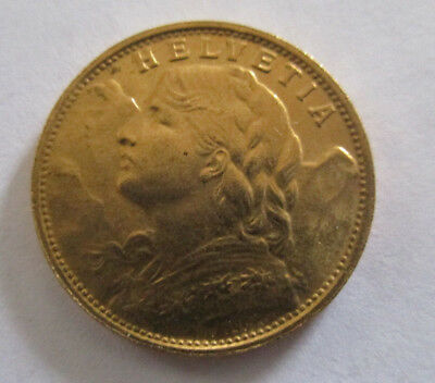 $350 • Buy 1930 Swiss Helvetia Gold Coin , High Grade Coin