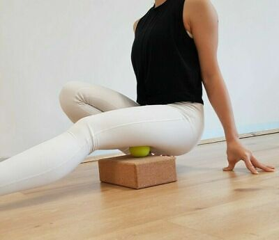 AU28.95 • Buy Cork Yoga Block ECO Friendly Pilates Exercise Prop Fitness + Free Delivery
