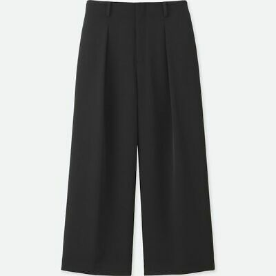 AU24.99 • Buy XXL 16 18 UNIQLO Black Pleated Drape Dress Wide Leg Pants SOLD OUT CULOTTES