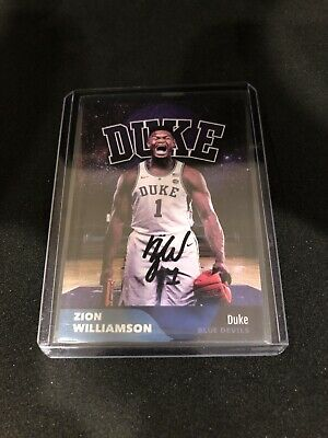 $1.25 • Buy Zion Williamson Crushed Ball Autograph Rookie Card Reprint