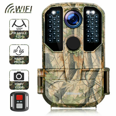 £62.69 • Buy 20MP Outdoor Hunting Wildlife Camera WiFi 1296P Trail Scouting Cam Night Vision