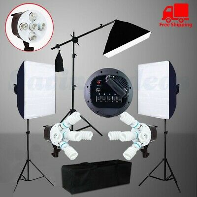 3425W Digital Video Photo Softbox Continuous Lighting Soft Box Light Stand Kit • 79.98£