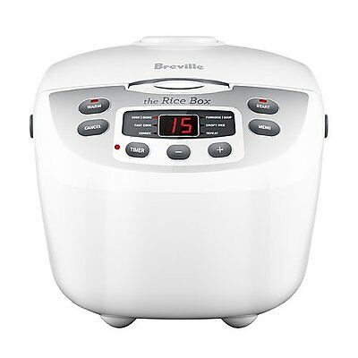 AU129 • Buy Breville BRC460WHT The Rice Box 10Cup Rice Cooker & Steamer -
