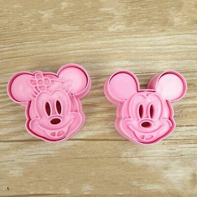 Minnie & Mickey Mouse Cookie Cutter Baking Stencil Mould Set Of 2 UK SELLER • 4.99£