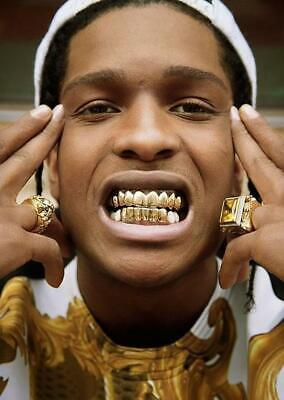 Gold Grill Tooth Clip Full Mouth Plated Teeth Cap Grills Bling Hip Hop UK • 9.99£