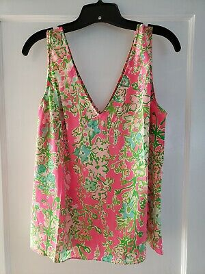 $39 • Buy Lilly Pulitzer Southern Charm Cipriani Silk Tank