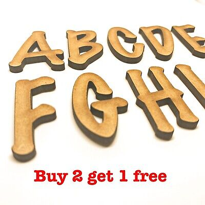 £0.99 • Buy Decorative Wooden Letters Large Small 2cm-40cm MDF Wall Hanging Wall Decor