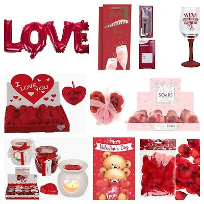 VALENTINES DAY ROMANTIC GIFTS His & Her Love Heart Cute Valentine Gifts • 3£