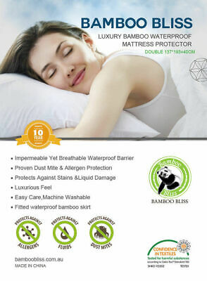 AU38.50 • Buy Luxury Bamboo Waterproof Mattress Bed Protector Fully Fitted S/ks/d/q/k