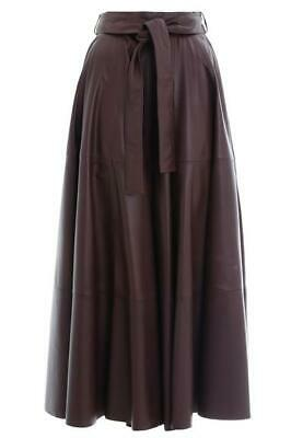 $1100 • Buy Zimmermann Resistance Leather Skirt (Mahogany) NEW WITH TAGS Size 1 (Small)