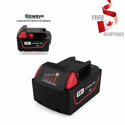 $ CDN50.98 • Buy 18V 5.0Ah Lithium Ion Battery Replacement For Milwaukee M18 Battery
