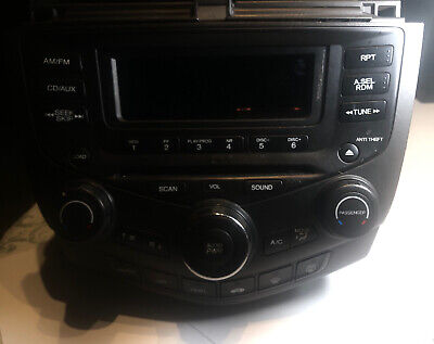 $100 • Buy 03-07 Honda ACCORD Stereo W/ 6 Disc CD PLAYER Changer & Climate CONTROL Nice OEM