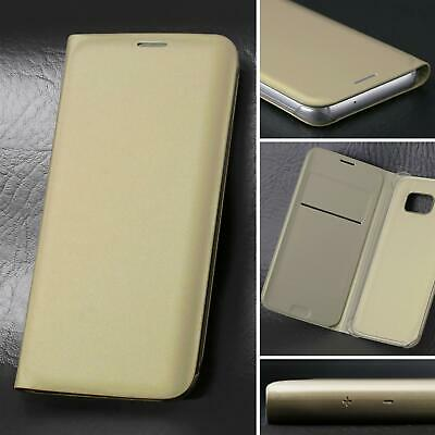 $ CDN4.07 • Buy Leather Flip Case Wallet Cover For Samsung Galaxy S8 In Gold