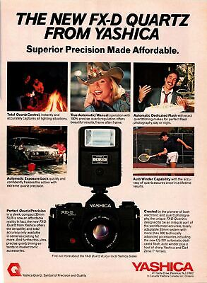 1981 VINTAGE 8X11 PRINT Ad FOR Yashica FX-D 35mm Camera CLEANING VW CAR,CAMPFIRE • 6.70£
