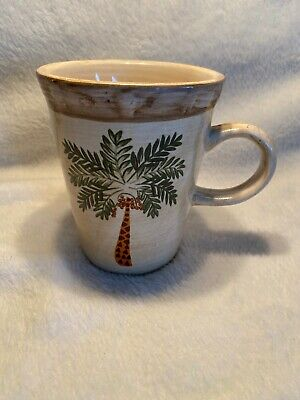 $3.50 • Buy West Palm By Home Trends Coffee Mug Palm Tree Bamboo Border