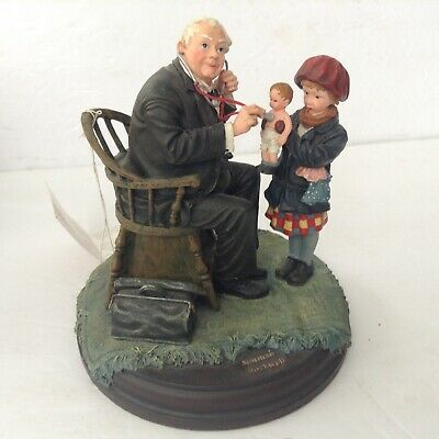 $24.50 • Buy  Norman Rockwell's Resin Sculpture Country Doctor Caring For Little Girls Doll