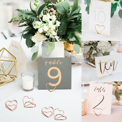 £2.49 • Buy 10x Heart Photo Clip Holder Number Place Card Name Note Memo Wedding Table Decor