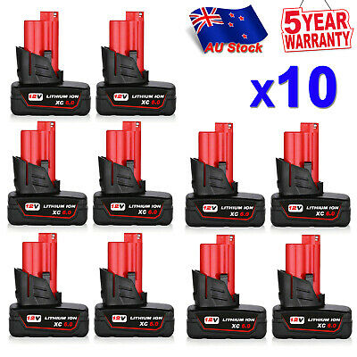 AU28.49 • Buy For Milwaukee 12V M12 B6 Cordless Red Lithium M12 Battery Pack M12B5 48-11-2440