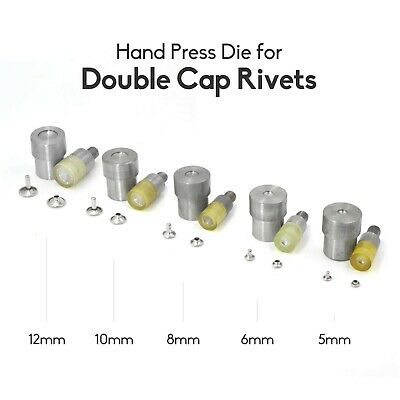 $ CDN14.99 • Buy Hand Press Die For Double Cap Rivets Fit Snap Setter Setting Tools 5,6,8,10,12mm